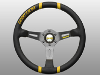 Steering Wheel Drifting - Black Lth / Yellow Inserts - Momo