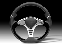 Steering Wheel GTR2 - Black Lth / Silver - Momo
