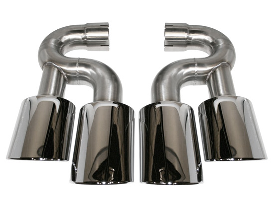 Exhaust Tail Pipes Turbo Look 4R Porsche Cayenne 955