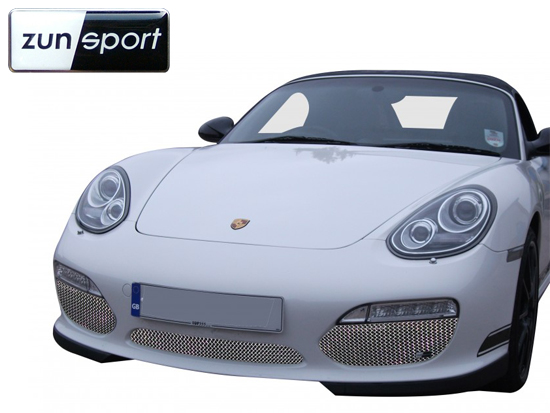 2009-2013 Rear Grille Set Zunsport Compatible With Porsche Cayman 987.2 Silver finish