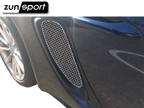 2012 to 2016 Zunsport //Boxster 981 - Side Vents Grille Set Black finish All