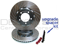 Girodisc Slotted 2-pc Brake Disc / Rotor Set for Porsche 997 C4S Gen1 PCCB