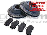 Brake Pads and Brake Disc Package. Porsche 996 1997-04