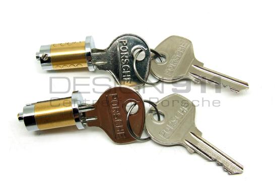 Porsche 356 Lock Cylinder Set With Keys Pcg53165000