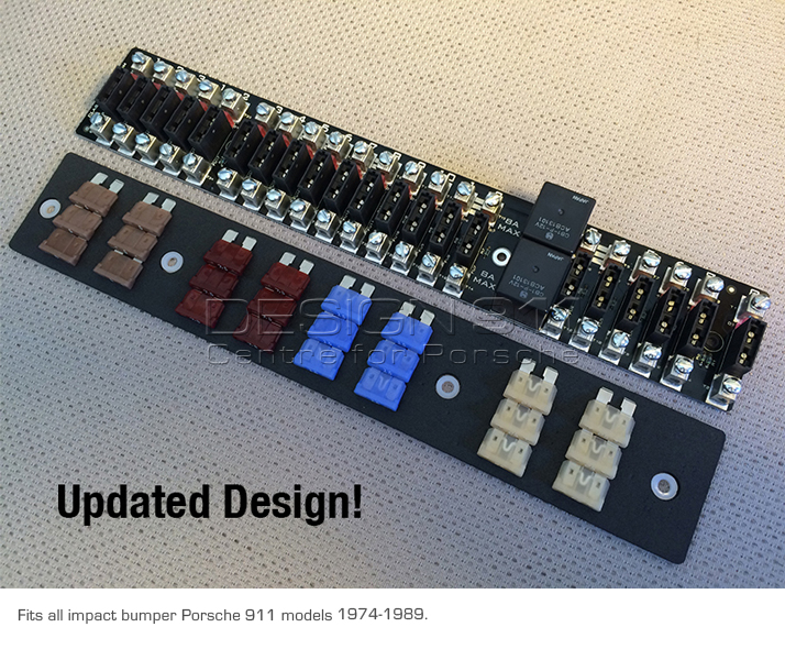 fuse rack 21 way fuse panel with led fuse failure indicators on Classic Porsche 911 for fuse rack 21 way fuse panel with led fuse failure indicators porsche 911 1974 89 classic retrofit at 2006 Porsche Cayenne Fuse Box Diagram