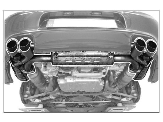 Sport Exhaust Muffler 997 Mk2 Switchable System