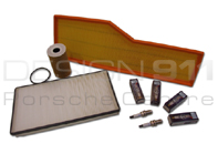 Service Kits for Porsche 996 Carrera C2, C4, 3.4L  Oil, Air Filters,  Spark plugs, + More